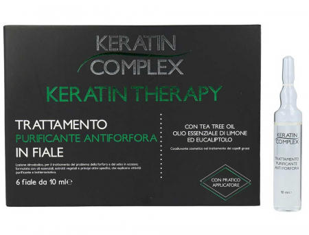 Tratament purificator antimatreata, Keratin Complex, 6 fiole x 10 ml