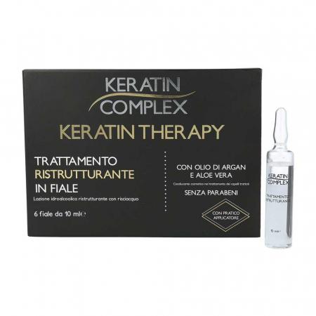 Tratament restructurant pentru par in fiole, Keratin Complex, 6 fiole x 10 ml