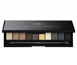 Trusa Cu 10 Farduri L'OREAL Color Riche La Palette Ombree Smokey Black, 7 gr