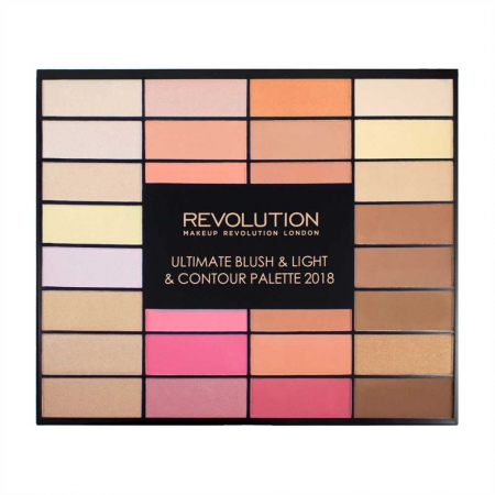 Trusa pentru Conturare Makeup Revolution Ultimate Blush, Light & Contour 2018, 32 nuante3