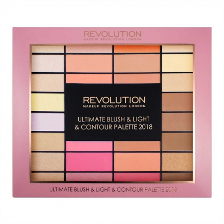Trusa pentru Conturare Makeup Revolution Ultimate Blush, Light & Contour 2018, 32 nuante0