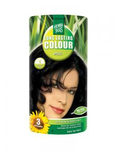 Vopsea de Par HennaPlus Long Lasting Colour - Black 1