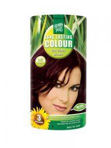 Vopsea de Par HennaPlus Long Lasting Colour - Red Violet Brown 4.670