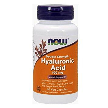 Now Hyaluronic Acid 100 mg Double Strength 60 veg caps