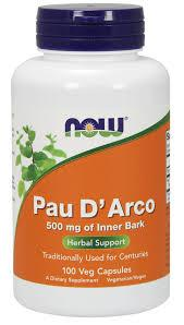 Now Pau D`arco 500 mg 100 veg caps 0