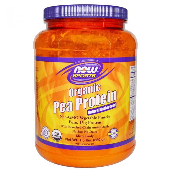Now Organic Pea Protein 680 g 0