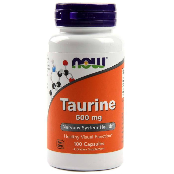 Now Taurine 500 mg 100 caps 0