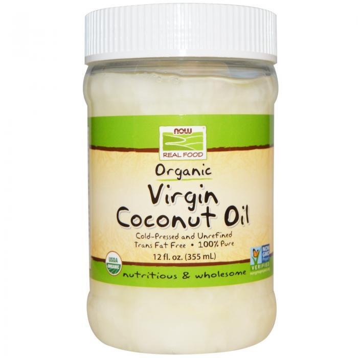 Now Virgin Coconut Oil Organic 355 ml 0
