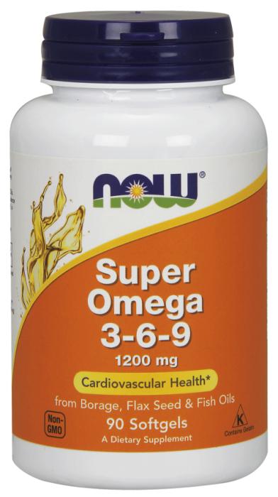 Now Super Omega 3-6-9 1200mg 90 softgels 0