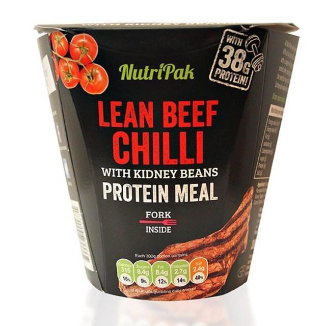 Nutri Pak Lean Beaf Chilli With Kidney Beans 300g 0