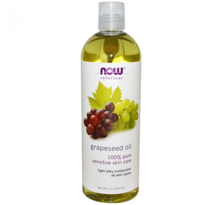Now Grapeseed Oil  100% Pure Senzitive Skin Care 473 ml 0
