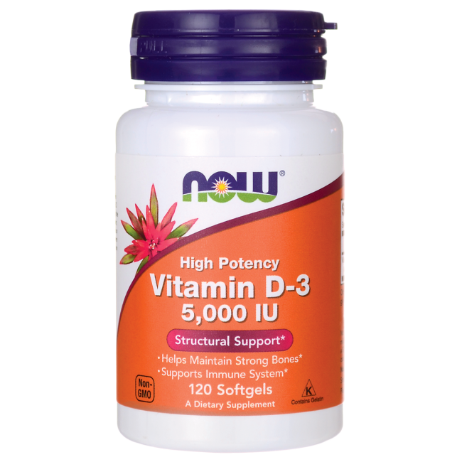 Now Vit D3 5000IU 120 softgels