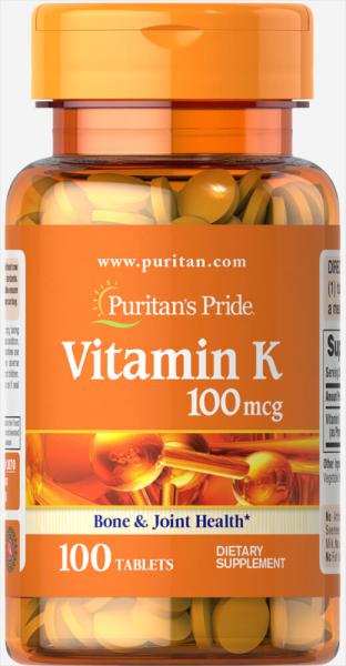 Puritan`s Pride Vitamin K 100 mcg 100 tab [0]