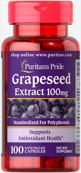 Puritan`s Pride Grapeseed Extract 100 mg 100 caps 0