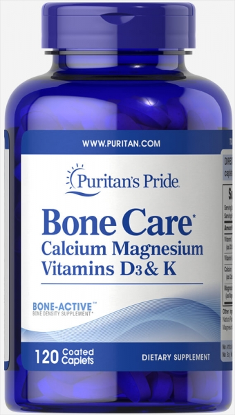 Puritan`s Pride Bone Care Calcium, Mag, vit. D3 & K 120 caps 0