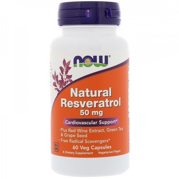 Now Natural Resveratrol 50 mg 60 veg caps 0