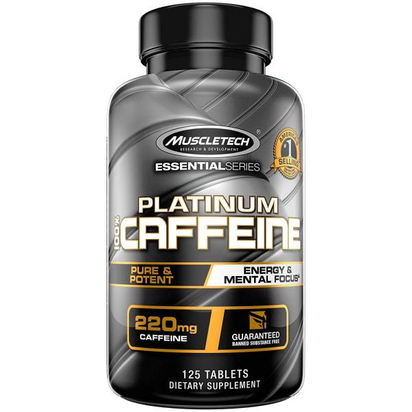 Muscletech Platinum 100% Caffeine 125 tab 0