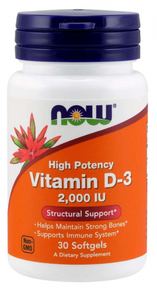 Now Vitamin D3 2000IU 30 softgels [0]
