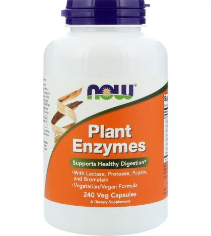 NOW Plant Enzymes 240 vcaps 0