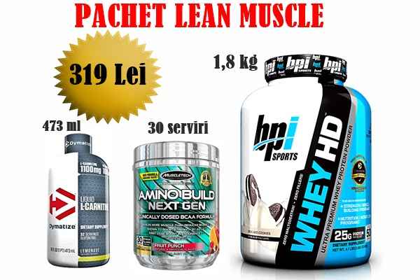 Pachet Lean Muscle proteinemag