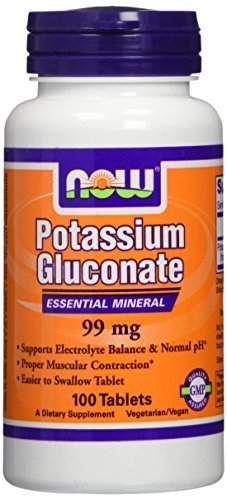 Now Potassium Gluconate 99 mg 100 tab 0