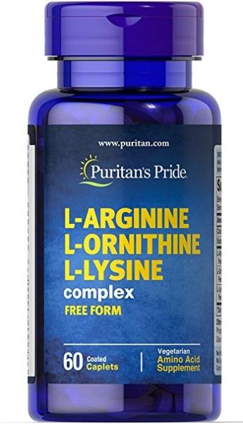 Puritan`s Pride L-Arginine L-Ornithine L-Lysine complex 60 caps 0