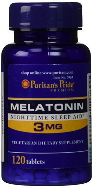 Puritan`s Pride Melatonin 3 mg 120 tab 0