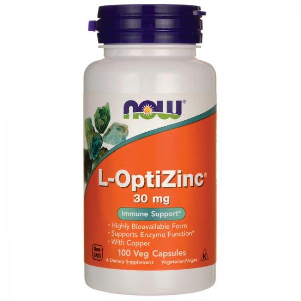 Now L-OptiZinc 30 mg 100 veg caps 0