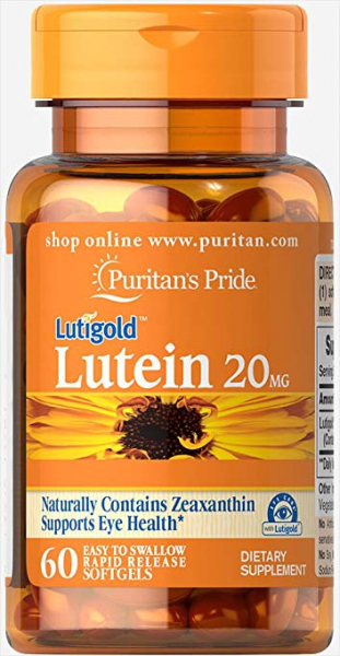 Puritan`s Pride Lutein 20 mg with Zeaxantin 60 softgels 0