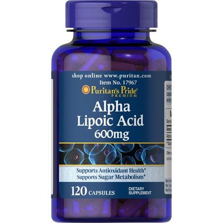 Puritan`s Pride Alpha Lipoic Acid 600 mg 120 caps 0