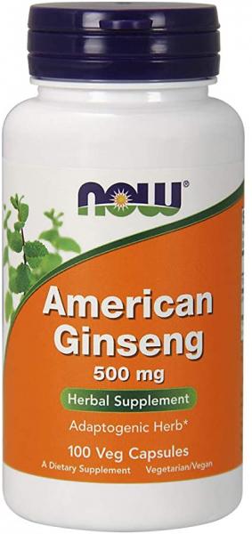 Now American Ginseng 500 mg 100 veg caps 0
