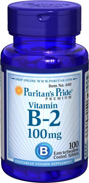 Puritan`s Pride Vitamin B-2 100 mg 100 tab [0]