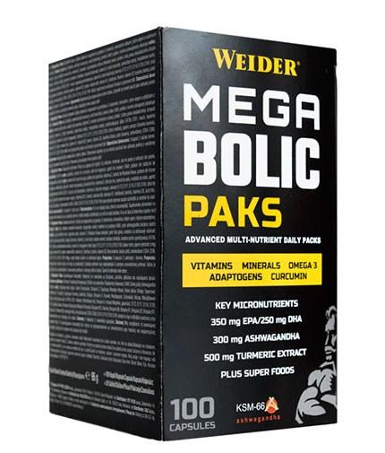 Weider Mega Bolic paks 100 caps 0
