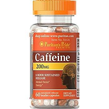 Puritan`s Pride Caffeine 200 mg 60 capsule 0