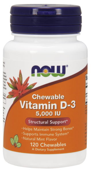 Now Vitamin D3 5000 IU 120 Chewable 0