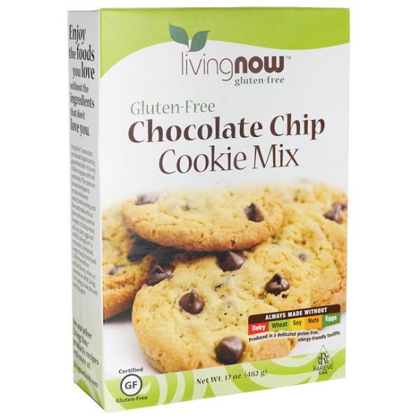 Now Chocolate Chip Cookie Mix Gluten Free-482 gr [0]