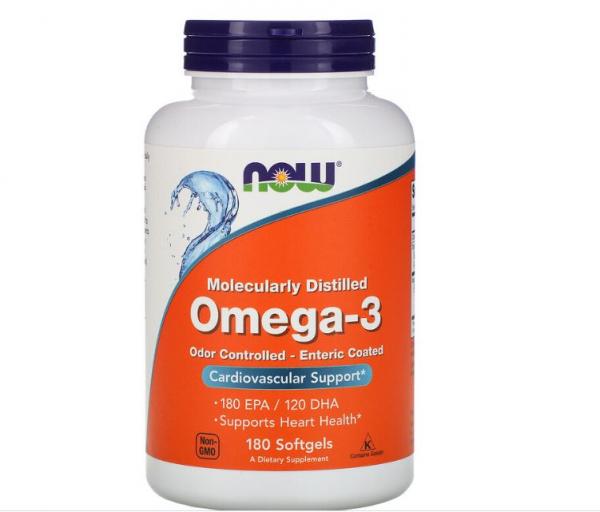 Now Omega-3 Enteric Coated 180 softgels 0