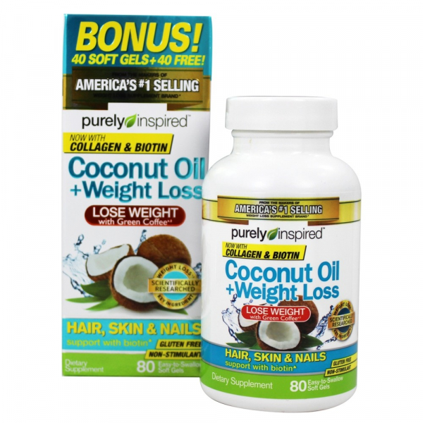 Purely Inspired Coconut Oil Weight Loss 80 softgels 0
