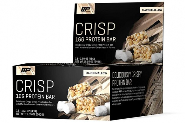 MusclePharm Crisp Protein Bar 12x 45 g 0