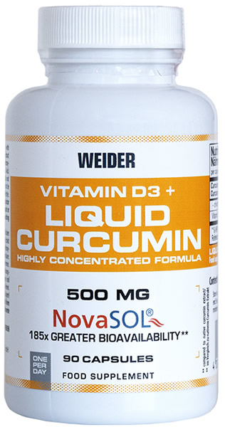 Weider Vitamin D3 and Liquid Curcumin 90 caps 0