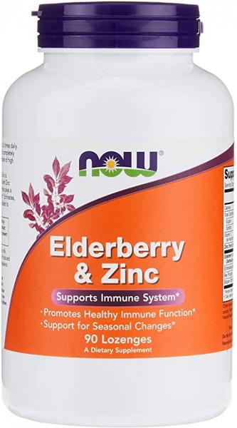 Now Elderberry & Zinc 90 lozenges 0