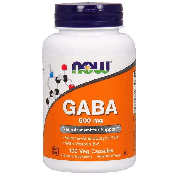 Now Gaba 500 mg 100 vcaps 0
