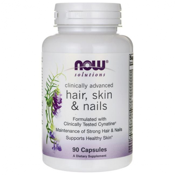 Now Clinical Hair, Skin and Nails 90 veg caps 0