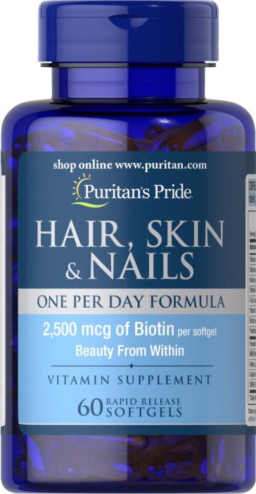 Puritan`s Pride Hair, Skin & Nails 60 softgel [0]