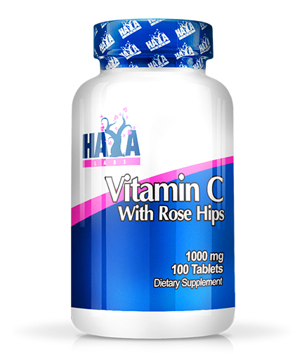 Haya Labs Vitamin C with Rose Hips 1000 mg 100 tab 0