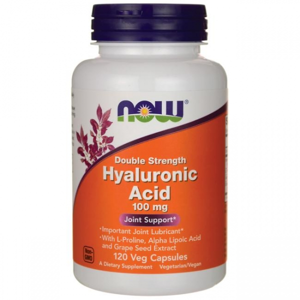 Now Hyaluronic Acid 100 mg Double Strength 120 veg caps 0