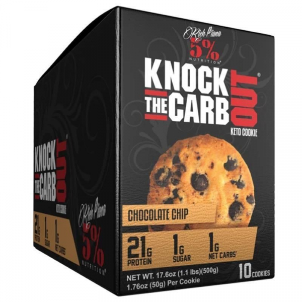 Rich Piana 5% Knock The Carb Out Keto Cookie 10x 50 g 0
