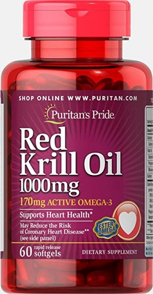 Puritan`s Pride Red Krill Oil 1000 mg 60 softgels [0]