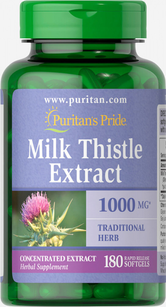 Puritan`s Pride Milk Thistle Extract 1000 mg 180 softgel 0
