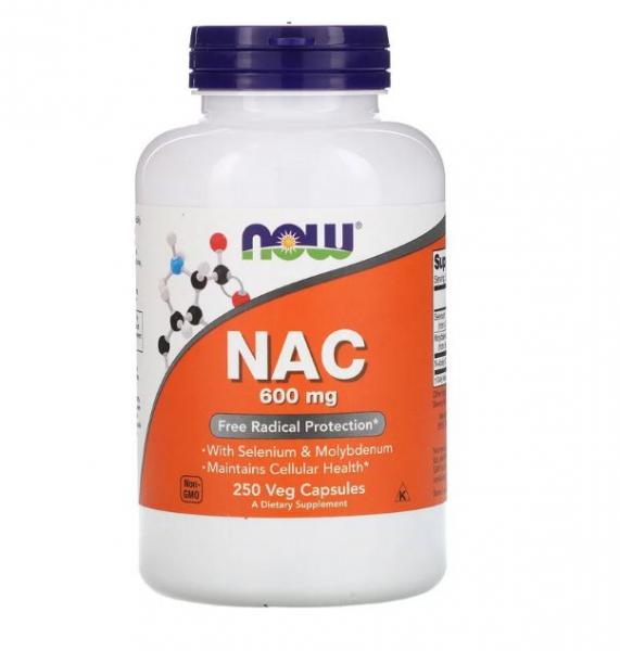 Now NAC 600 mg 250 veg caps [0]
